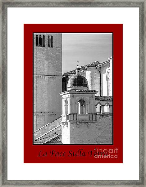 La Pace Sulla Terre With Basilica Details Framed Print