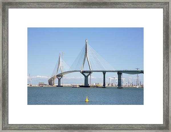 La Pepa Bridge Under Construction Framed Print by Iñaki Respaldiza