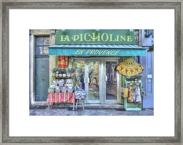 La Picholine Framed Print