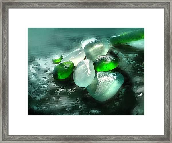 La Playa De Los Cristales  Framed Print