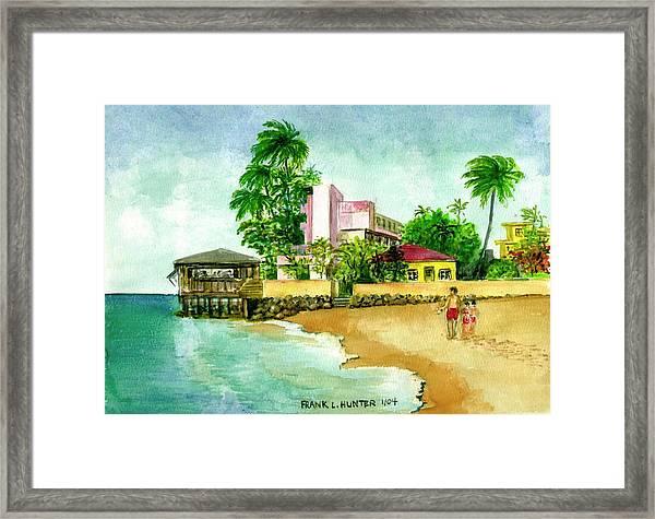 La Playa Hotel Isla Verde Puerto Rico Framed Print