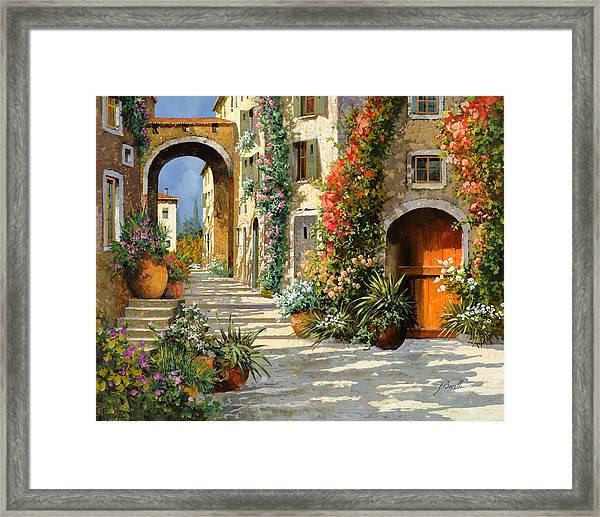 La Porta Rossa Sulla Salita Framed Print