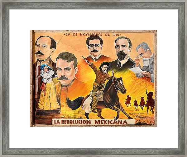 La Revolution Mexicana Framed Print