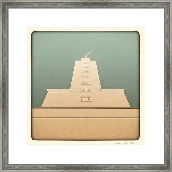 L.a. Temple Green Framed Print
