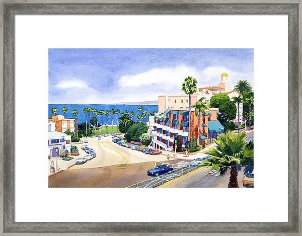 La Valencia And Prospect Park Inn Lj Framed Print