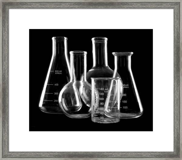 Laboratory Glassware Framed Print