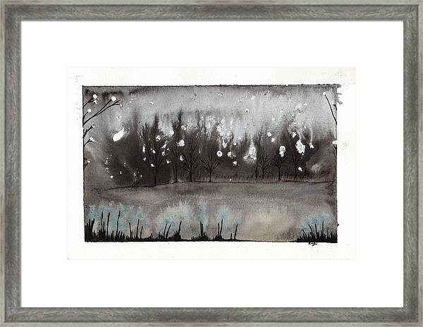 Lac En Cendres Framed Print