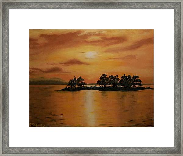 Lac La Biche  Sunset Framed Print