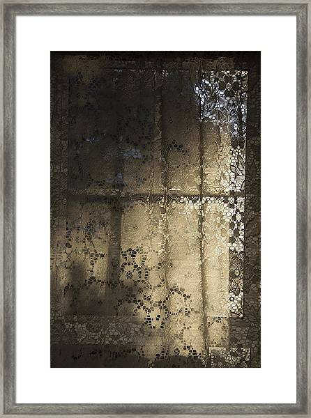 Lace Curtain 1 Framed Print