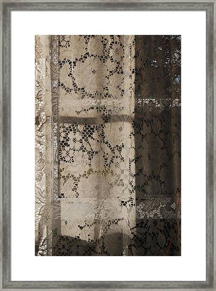 Lace Curtain 2 Framed Print