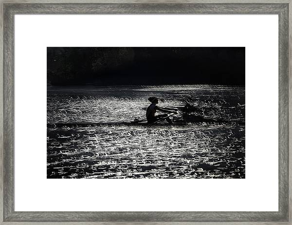 Lace  Of Lake Framed Print by Milan Malovrh