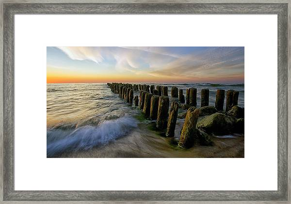 Lace Sunset Framed Print