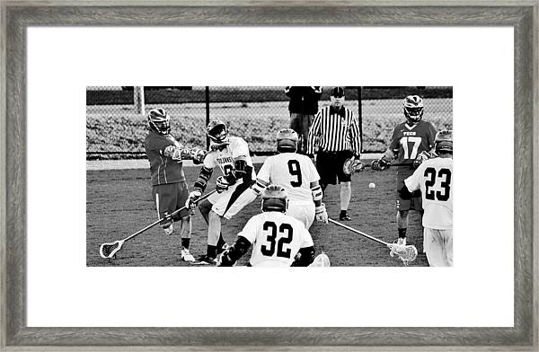 Lacrosse - Stick To The Face Framed Print
