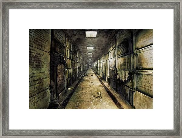 Lacrypt Framed Print