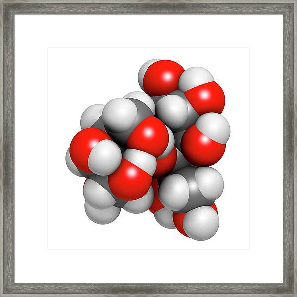 Lactitol Sweetener And Laxative Molecule Framed Print