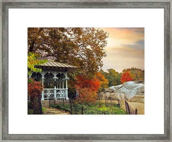 Ladies Pavilion In Autumn Framed Print