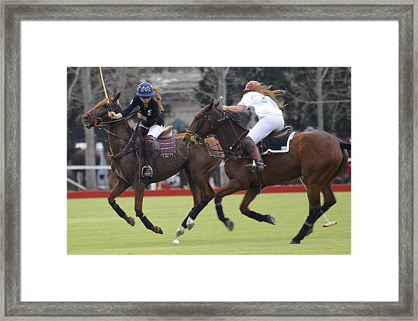 Ladies Polo In Argentina Framed Print