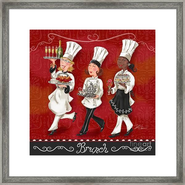 Lady Chefs - Brunch Framed Print