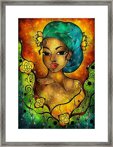 Lady Creole Framed Print