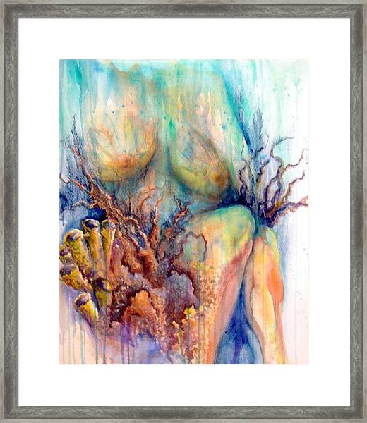 Lady In The Reef Framed Print