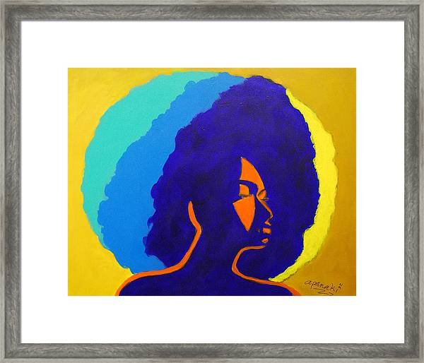 Lady Indigo Framed Print