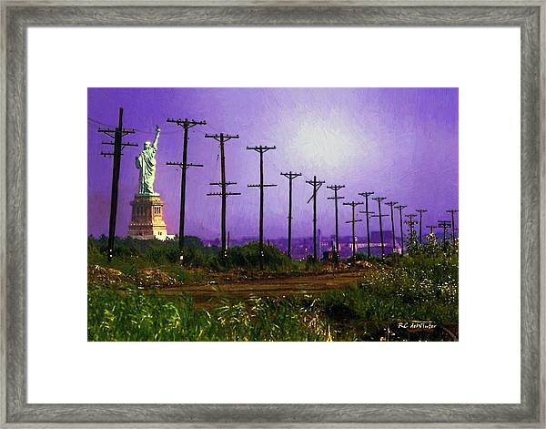 Lady Liberty Lost Framed Print