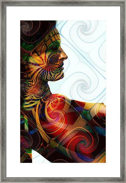 Lady Masquerade Framed Print