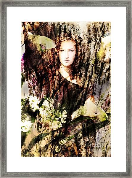 Lady Of Bark Framed Print