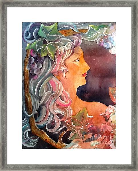 Lady Of The Grapes Framed Print