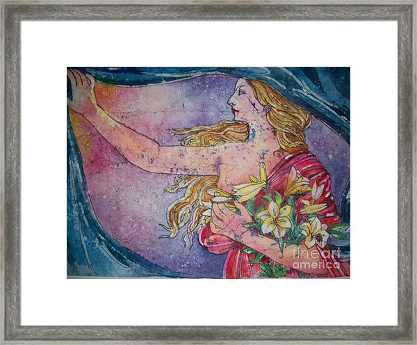 Lady Of The Morning Framed Print
