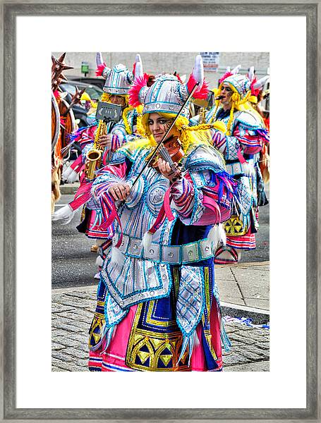 Lady Viking Mummer Framed Print