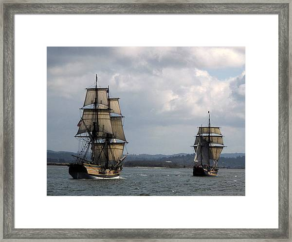 Lady Washington And The Hawaiian Chieftain Framed Print