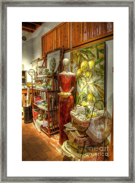 Lady With Lemons Framed Print