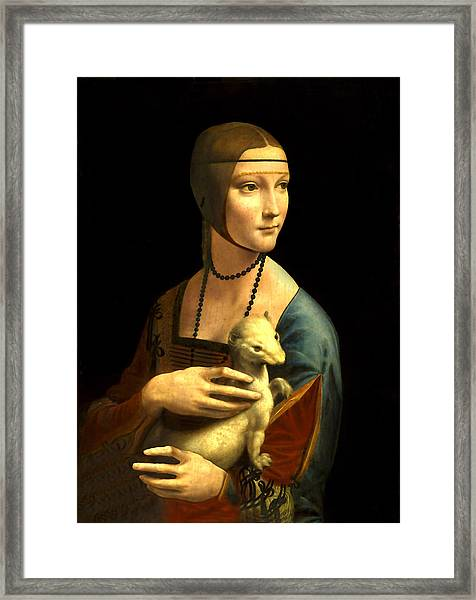 Lady With The Ermine Reproduction Framed Print
