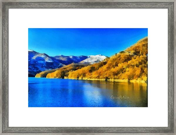 Lago Del Brugneto - Brugneto Lake Framed Print