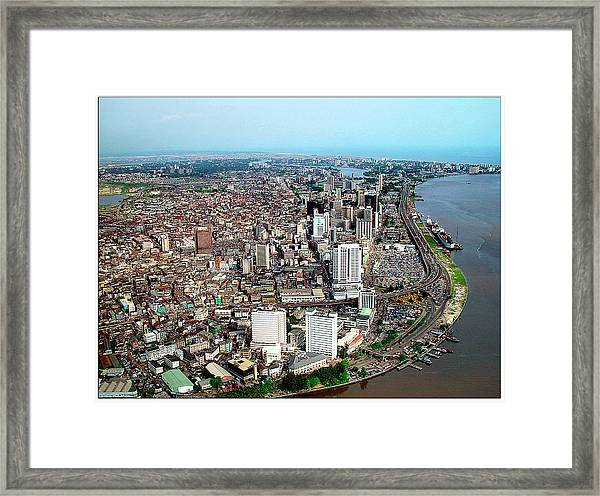 Lagos Framed Print by Alex Bartel/science Photo Library