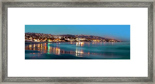 Laguna Beach Twilight Reflections Framed Print