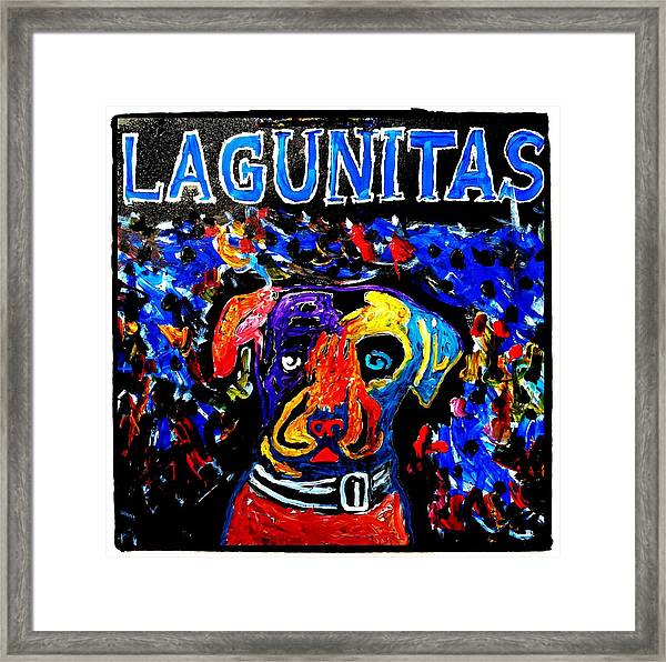 Lagunitas Dog Framed Print