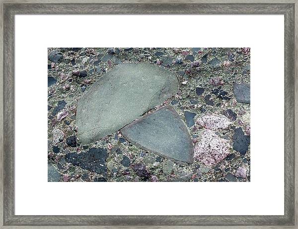 Lahar Deposit Rock Sample Framed Print