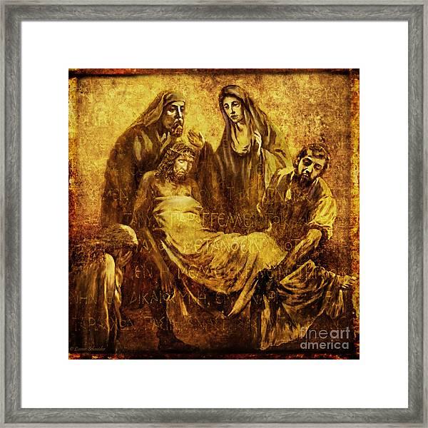 Laid_in_the_tomb Via Dolorosa 14 Framed Print