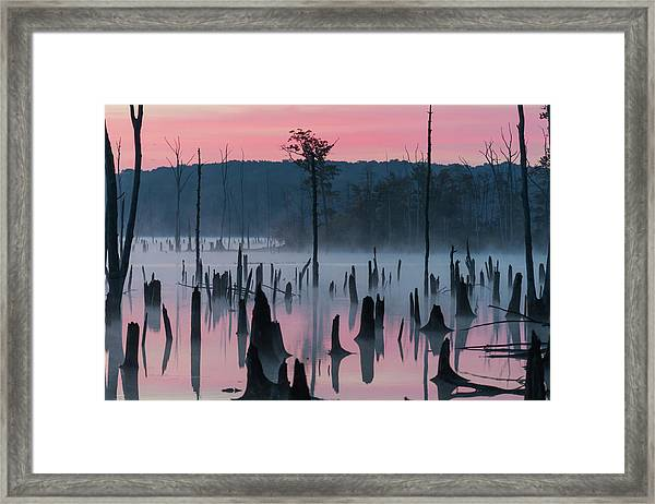Lake @ Morning #2 Framed Print by ??? / Austin