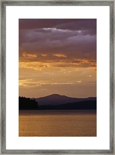 Lake Almanor Sunset Framed Print