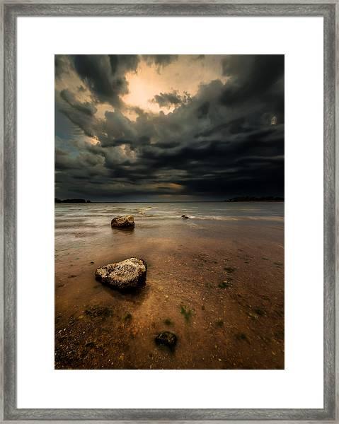 Lake And Clouds Framed Print by Garett Gabriel