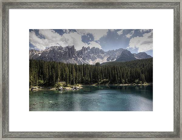 Lake Carezza Framed Print
