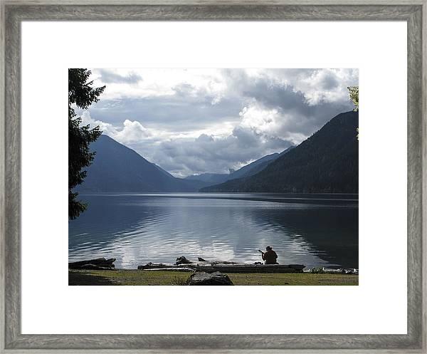 Lake Crescent Framed Print by Jill Bell