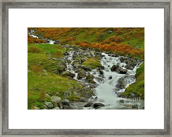 Lake District Waterfall Framed Print