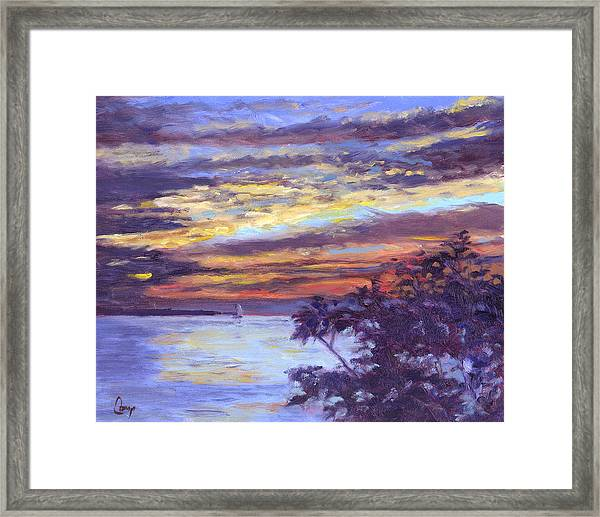 Lake Erie Sunset Framed Print