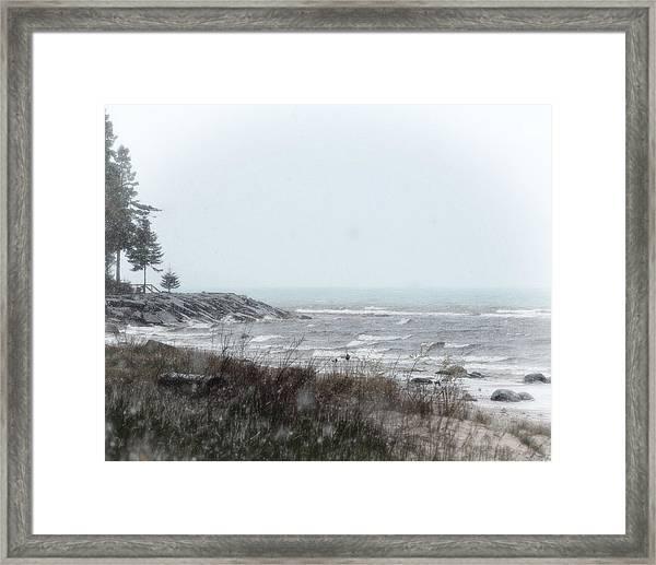 Lake Huron Shorleline Framed Print