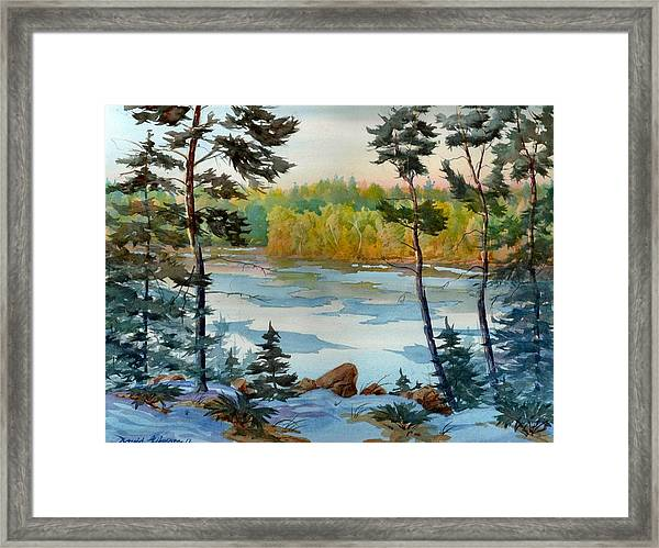 Lake Ice Before Break Up Framed Print