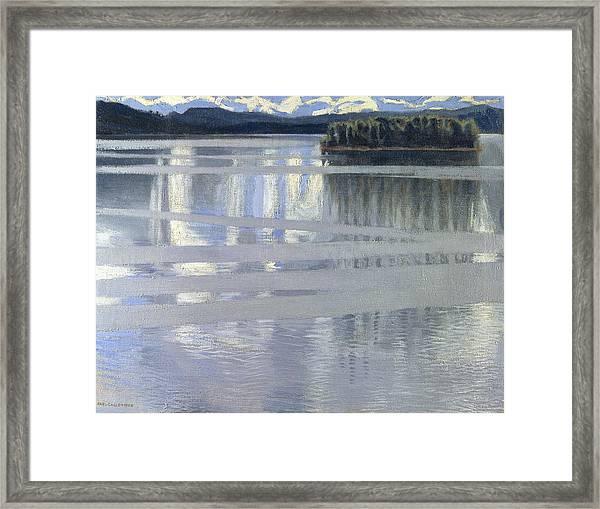 Lake Keitele Framed Print